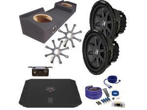 """Kicker for GMC 99-06 Sierra CVR102 10"""" Truck Bundle with DUBA11000D 1100 Watt Amplifier + Enclosure + Wire Kit"""