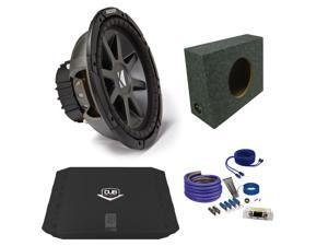 "Kicker CVR122 12"" Truck Bundle with DUBA2100 200 Watt Amplifier + Enclosure + Wire Kit"