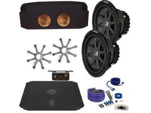 "Kicker Cadillac Escalade CVR102 10"" Truck Bundle with DUBA11000D 1100 Watt Amplifier + Enclosure + Wire Kit"