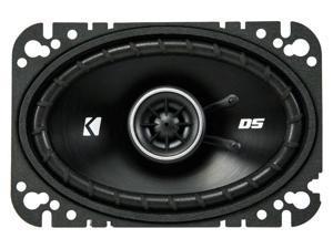 Kicker DSC460 4x6-Inch (100x160mm) Coaxial Speakers, 4-Ohm