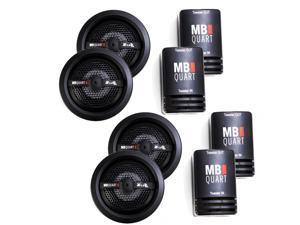 MB Quart Z Series 1 Inch Ceramic Coated Tweeter Bundle 2 pair (4 Tweeters)