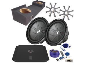 "Kicker for Chevrolet Silverado 99-06 CWR102 10"" Truck Bundle with DUBA1100D 1100 Watt Amplifier + Enclosure + Wire Kit"