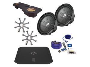 "Kicker Ram CWR102 10"" Truck Bundle with DUBA1100D 1100 Watt Amplifier + Enclosure + Wire Kit"