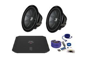 "Kicker CWR124 12"" Bundle with DUBA1100D 1100 Watt Amplifier + Wire Kit"
