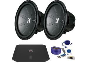 "Kicker CWR152 15"" Bundle with DUBA1100D 1100 Watt Amplifier + Wire Kit"