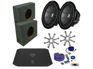 "Kicker CWR122 12"" Truck Bundle with DUBA1100D 1100 Watt Amplifier + Enclosure + Wire Kit"