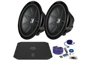 "Kicker CWR122 12"" Bundle with DUBA1100D 1100 Watt Amplifier + Wire Kit"