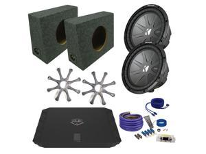 "Kicker CWR102 10"" Truck Bundle with DUBA1100D 1100 Watt Amplifier + Enclosure + Wire Kit"