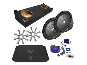 "Kicker for Chevrolet Silverado 07-10 CWR102 10"" Truck Bundle with DUBA1100D 1100 Watt Amplifier + Enclosure + Wire Kit"