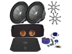 "Kicker for Chevrolet Avalanche CWR102 10"" Truck Bundle with DUBA1100D 1100 Watt Amplifier + Enclosure + Wire Kit"