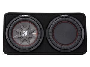 Kicker CompRT10 10-inch (25cm) Subwoofer in Thin Profile Enclosure, 4-Ohm, 400W