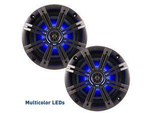 """Kicker OEM Replacement Charcoal Grey 6"""" / 6.5"""" 4-Ohm Coaxial Marine Speakers"""