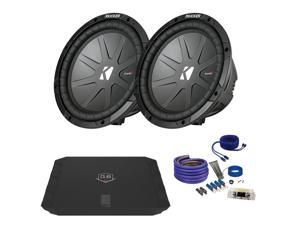 "Kicker CWR102 10"" Bundle with DUBA1100D 1100 Watt Amplifier + Wire Kit"