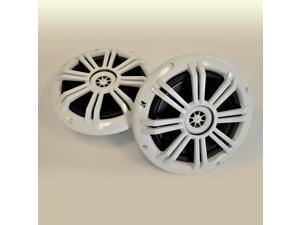 "Kicker White OEM Replacement Marine 6.5"" 4O Coaxial speakers"