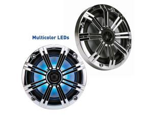 "Kicker 6.5"" Chrome LED Marine Speakers (QTY 2) 1 pair of OEM replacement speakers"