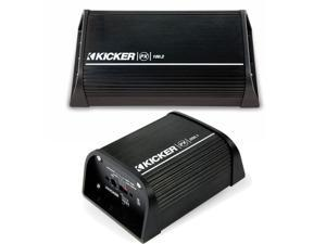 Kicker Powersport Package - PX100.2 100 watt 2-channel amp and PX200.1 200 watt subwoofer amp