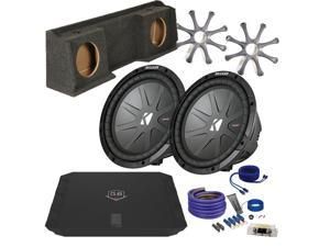 "Kicker for GMC Sierra CWR102 10"" Truck Bundle with DUBA1100D 1100 Watt Amplifier + Enclosure + Wire Kit"