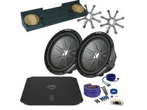 "Kicker for Chevrolet Silverado 88-98 CWR102 10"" Truck Bundle with DUBA1100D 1100 Watt Amplifier + Enclosure + Wire Kit"
