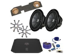 "Kicker Ram CWR122 12"" Truck Bundle with DUBA1100D 1100 Watt Amplifier + Enclosure + Wire Kit"