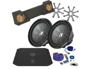 "Kicker for Chevrolet Silverado 07+ CWR102 10"" Truck Bundle with DUBA1100D 1100 Watt Amplifier + Enclosure + Wire Kit"