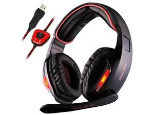 Sades SA 902 7.1 Surround Sound Effect USB Gaming Headset Headphone with Mic NEW