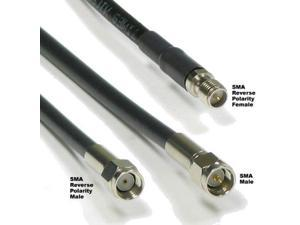 Times Microwave LMR-195 Extension Cable - Antenna/Access Point/Wifi Routers -Netgear/D-link- RP-SMA Connectors - (20 FT)