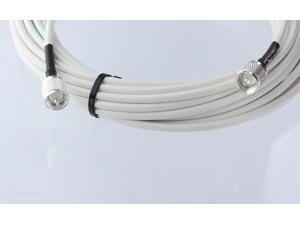 Marine Radio VHF and AIS Coaxial Antenna Cable with Silver Teflon PL-259 RG8x-W-PL259-50ft Made in the U.S.A. 50 Ft