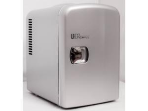 Uber Appliance UB-CH1 Uber Chill 6 Can Retro Personal Mini Fridge for Bedroom, Office, Dorm or Car