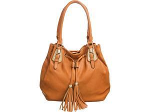 Laurel & Sunset Mikara Tan Tote-Sized Tasseled Shoulder Bag