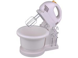200W Electric Digital 5 Speed Power Hand Mixer w/ Bowl Beaters Dough Hooks