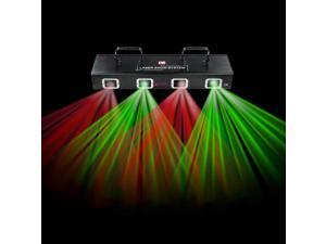 4 Lens & Beam Laser Light RG DMX Stage Disco Party Club Pub Show Lighting System