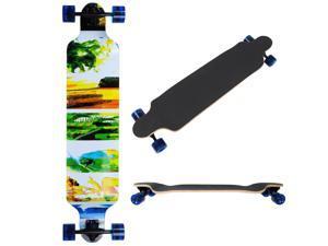 """Pro Longboard Complete 41x 9"""" Longer Cruising Board Speeding Skatebaord Downhill Canadian maple"""