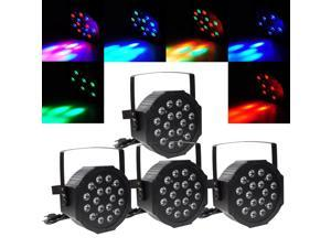 4pcs 18x 1w RGB LED Par Light DMX Night Club Wedding Party Disco Stage Lighting