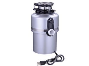 1 Horse Power 4200 RPM Continuous Feed Garbage Disposal Restaurant Home Kitchen Food Waste Silver