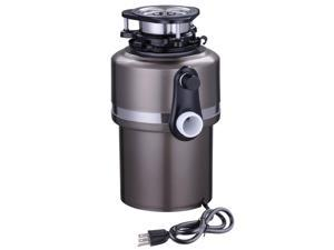 1 HorsePower 4200 RPM Continuous Feed Garbage Disposal Restaurant Home Kitchen Food Waste Black