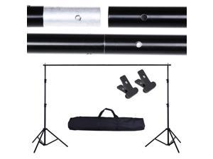 10' Adjustable Background Support Stand Photo Backdrop Crossbar Kit Photography