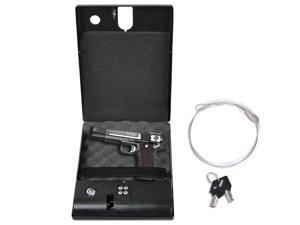 Electronic Gun Safe Digital Security Box Keypad Lock Cash Jewelry Pistol Key Car