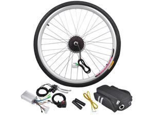 "36V 250W 26"" Rear Wheel Electric Bicycle Light Motor Engine Kit Cycling Hub Conversion"