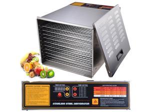 New Commercial 10 Tray Stainless Steel Food Fruit Jerky Dryer Blower Dehydrator