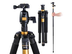 "Adjustable Pro 60"" Tripod Monopod w Ball Head Pocket DSLR Camera Travel Aluminum"
