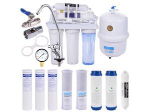 Yescom 5 Stage Home Drinking Reverse Osmosis System PLUS Extra 8 Max Water Filters