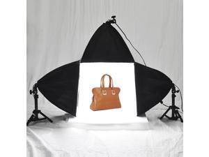 "16"" Cube Light Tent Kit w/ Backdrop 3x Softbox Table 45w Photo Studio Lighting"