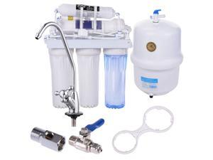 5 Stage Reverse Osmosis Drinking Water System RO Home Purifier Filter Complete System