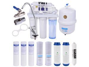 Yescom 5-Stage 50 GPD Home Drinking Reverse Osmosis System and Extra 8-Water Filters