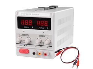 30V 10A 110V Soldering Station DC Power Supply Precision Variable w/ Clip Cable
