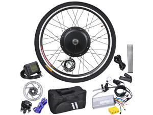 "48V 1000W 26"" Front Wheel Electric Bicycle LCD Display Motor Engine E-Bike Conversion"