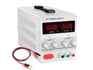 30V 5A Precision Variable DC Power Supply DigitaL Adjustable w/Clip Cable 110V