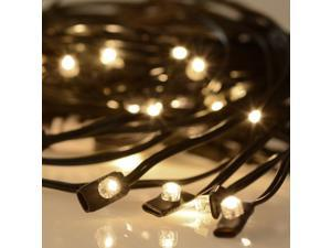 40 LED Solar String Light Warm White Fit 8-Rib 8ft 9ft Wooden Outdoor Patio Umbrella