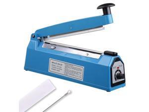 """8"""" 200mm Impulse Manual Hand Sealer Heat Sealing Machine Poly Tubing Plastic Bag"""