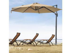 """10"""" Hanging Roma Offset Umbrella Outdoor Patio Sun Shade Cantilever Crank Canopy"""